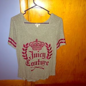 Juicy Couture glitter tshirt